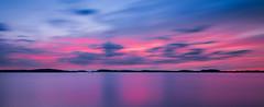 Grundsund after sunset (mpakarlsson) Tags: night evening ocean water sunset sky light grundsund bohuslän sweden archipelago sunlight sea bay mirror reflection longexposure nd16 filter nd ndfilter outdoor 5dii 5dm2 5dmark2 5dmarkii clouds panorama