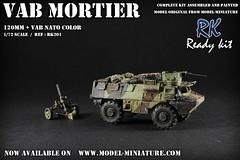 VAB Mortier 120mm en version 3 tons OTAN (Model-Miniature / Military-Photo-Report) Tags: scale painted models vab mounted ready kit saad 13 diorama militaire 172 vitrine 120mm maquette transparente chelle t20 talha mortier auf1 t2013 qaswa alqaswa