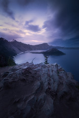 Twilight storm, Crater Lake (Ben_Coffman) Tags: longexposure nightphotography snow storm fog oregon landscape twilight pacificnorthwest craterlake stormclouds craterlakenationalpark longexposurenightphotography bencoffman bencoffmanphotography