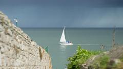 Smooth Sailing (Netzki) Tags: ireland sea rain wall stefan sail netzki dalkey waldeck irishsea sailingboat 2016 stefanwaldeck