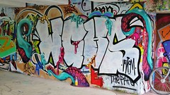 Venom & Mad Juice / Keizerviaduct - 19 juni 2016 (Ferdinand 'Ferre' Feys) Tags: streetart graffiti belgium belgique belgi urbanart graff ghent gent gand graffitiart venom artdelarue urbanarte madjuice