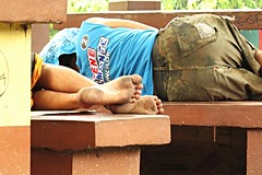 deep slumber (DOLCEVITALUX) Tags: park outdoor sleep slumber snapshot canonpowershotsx50hs