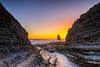 Sunset colors thorugh the crevice, Davenport (anishsid) Tags: sanfrancisco california davenport pacificcoast crevice 2470f28 gnd leefilters nikon2470f28 6gnd 9gnd