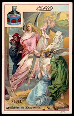 Belgian Tradecard - Faust (cigcardpix) Tags: tradecards advertising ephemera vintage chromo angels