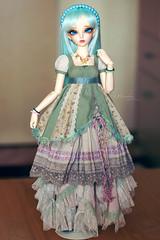 Deri's new outfit <3<3<3 (Einwegherz) Tags: girl doll slim dress bjd fairyland mori abjd msd mnf minifee rheia morigirl squishdellia