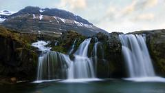 Spring has sprung at Kirkjufellsfoss waterfall (lunaryuna) Tags: iceland westiceland snaefellsnespeninsula kirkjufellsfosswaterfall waterfall mountain landscape spring season seasonalchange lateevening le longexposure lunaryuna ngc