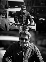 [La Mia Citt][Pedala] sorridendo (Urca) Tags: milano italia 2016 bicicletta pedalare ciclista ritrattostradale portrait dittico bike bicycle biancoenero blackandwhite bn bw 872165 sorridendo