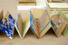 Arzu Mistry in the Studio (Women's Studio Workshop) Tags: education screenprinting silkscreen bookbinding collaboration bookmaking bookarts artistsbooks arteducation arzumistry