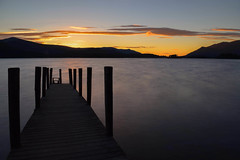 Derwent Water Sunset (mikedenton19) Tags: sunset pier jetty lake district national park cumbria keswick derwent water derwentwater catbells silhouette