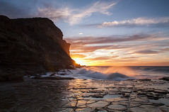 glow cliffs (barryhatton33) Tags: landscape seascape pink orange red sunrise vibrant australia garie royal mational park barry hatton wave crashing