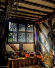 Little Moreton Hall (deancolclough74) Tags: oldenglishhouse henryv111 dryflowers herbs lordoftherings golden window heather nationaltrust cheshire tudor kitchen littlemoretonhall