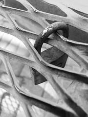 Locked... (graafsten) Tags: beach sea boulevard santaponsa spain mallorca blackandwhite blackwhite bw bnw monochrome grey bench locked lockedup lock
