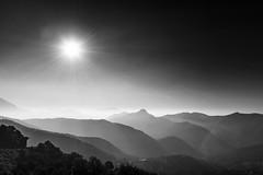 Italian Sunrise (frank_w_aus_l) Tags: sunrise mountain scape peak monochrome sw bw nikon d810 italia italien comersee lakecomo alpen sormano lombardia it