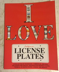 I LOVE LICENSE PLATES license plate book IV (woody1778a) Tags: books licenseplate numberplate registrationplate mycollection myhobby literature woody