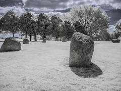 Hilly Fields Park (blackwoodse6) Tags: infrared ir 720nm canon park trees white blue clouds foilage brockley lewisham london uk england canong10 falsecolour standingstones stonecircles hillyfieldspark londonparks outdoor southlondon southeastlondon
