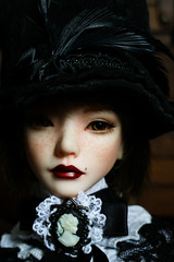 muse portrait (lauradavison) Tags: bjd abjd ball jointed doll resin sd dollmore zaoll luv muse portrait victorian steampunk