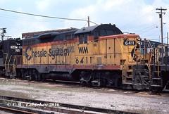 WM 6411 on 8-5-79 (C.W. Lahickey) Tags: wm emd gp9 brewster ohio