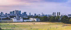 Canary Wharf + Royal Naval Museum (Davestarling) Tags: canon1740mmf4l canon6d greenwich bluegreen canarywharf cityscape greenwichpark london navalmuseum
