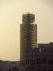 Holy Construction (chearn73) Tags: minaret middleeast doha qatar islam building scaffold construction