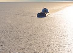 Lining up for the Mac (GLC 392) Tags: the interlake steamship steam ship company 1000 footer foot great lakes shipping mesabi miner mighty mac mackinaw bridge mi michigan saint ignace st lake water lining up