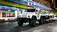 London is an interesting city... (m.grabovski) Tags: land rover defender 6x6 csk automotive london sloane street knightsbridge england great britain mgrabovski