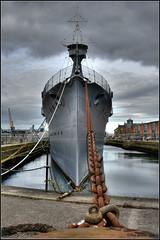 HMS Caroline. (Phil-Greaves.) Tags: historic world war history ww1 1 warship might military navy ship tourist sightseeing hms hmscaroline belfast outdoors outside chain docks alexanderdocks nikon d5200 1855mm