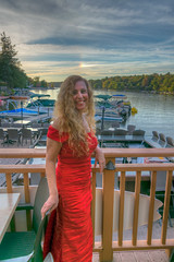 A Good Life (tquist24) Tags: lakeharmony nickslakehouse nikon nikond5300 pennsylvania boats clouds evening fence geotagged girl honeymoon lake marina portrait pretty red restaurant sky smile water woman unitedstates