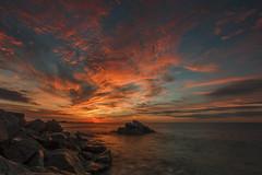 Autumn sunrise (I) (eztopo79) Tags: arenys mar maresme barcelona sunrise amanecer albada morning seascape rocks clouds cloudy canon sigma formatt hitech catalonia catalunya mediterranean