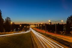 Lnsivyl (Antti Tassberg) Tags: 50mm autumn dark fall helsinki laru lauttasaari lens lightstripe longexposure lowlight lnsvyl night nightscape prime road syksy tie trails y uusimaa finland