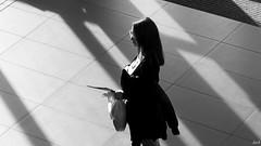The evening (Pavel Jursek) Tags: black white bw blackdiamond photography photographie monochrom femme human giirls public pb moments blackwhite street moment streets steetphoto impublic urban city sreetlite people photo picture pics image flickr monotone mono bestportraitsaoi