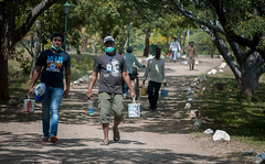 Service Project - Stone Painting on path to Samadhi