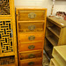 6 drawer high pine chest unit