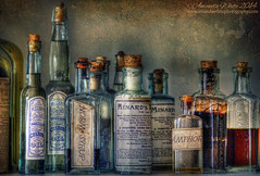 Norm Syrup (sminky_pinky100 (In and Out)) Tags: old travel stilllife tourism bottles textures newbrunswick historical potions remedies lotions kingslanding omot cans2s goldenart artistictreasurechest