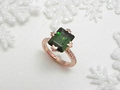 星がきらめく婚約指輪  Green Tourmaline Engagement Ring (jewelrycraft.kokura) Tags: diamond pinkgold tourmaline ダイヤモンド ピンクゴールド グリーントルマリン