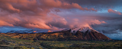 Beckwith Peaks (Kebler Pass) (tyil.pics) Tags: sunset red panorama mountain snow clouds nikond810 colorado2014fall