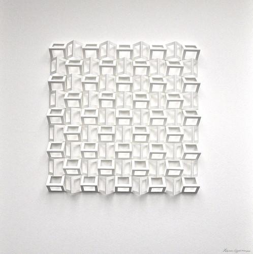 herman coppus papiereliëf 50x50cm
