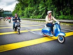 on the road (g o o f b a l l) Tags: 2 li vespa dr lambretta malaysia series kuala lumpur aquila martens ulma vigano metalplast baracuta