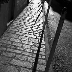urban shadows (bonny 18) Tags: street light urban blackandwhite contrast square shadows