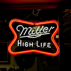 High Life (Jeremy Brooks) Tags: california ca usa neon unitedstates miller alameda alamedacounty millerhighlife beerneon