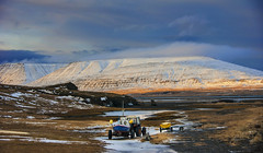 the straight journey? .. not in Iceland! (lunaryuna) Tags: winter sky sunlight snow tractor mountains ice season landscape boats iceland solitude engine fjord lunaryuna cloudscape theenchantmentofseasons thegoldenlight alwayslookuptothesky thecoloursoficeland