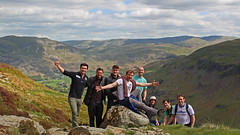 Feeling on top of the world - After months locked up within our own minds. (JA Knight) Tags: england lake district group elation helvellyn selfie