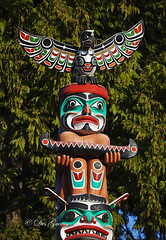Stanley Park Totem Pole, Vancouver BC (PhotoDG) Tags: park art vancouver totem totempole stanleypark firstnation vancouverbc  metrovancouver stanleyparktotempole