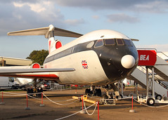 Trident (Treflyn) Tags: show 2e plane airplane during european bea display air aeroplane collection static duxford british airways airliner hawker trident siddeley gavfb