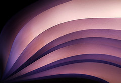 A Fan of Purple (ursula.abresch) Tags: pink color colour detail art lines closeup digital paper studio print fan photo soft bc image fine picture violet lavender wave indoor pic line diagonal trail photograph papers edge backlit ursula playful optimistic harmonious sabstract abresch