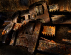 Rusty Pipe Wrenches (arbyreed) Tags: old stilllife vintage rusty tools crusty wrench rustytools pipewrenches arbyreed