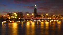 Lights (Jens Haggren) Tags: city longexposure bridge sky water reflections lights stockholm olympus omd em10 olympusmzuikodigital25mmf18