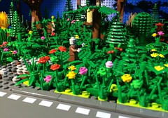 In the Weeds (woodrowvillage) Tags: flowers motion tree brick film roy car forest garden photo village lego zombie stop legos owl animation brickfilm woodrow minifigure moc youtube