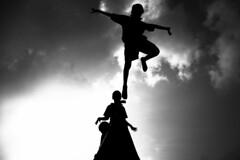 Marina (Kals Pics) Tags: life morning light sky people india weather childhood silhouette kids clouds sunrise children fun boat play action funtime playtime marinabeach chennai tamilnadu roi cwc mylapore lightandlife incredibleindia triplicane rootsofindia kalspics chennaiweelendclickers nochikuppam