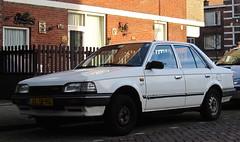 1989 Mazda 323 sedan 1.3 LX Finish Automatic (rvandermaar) Tags: sedan automatic finish 1989 mazda bf lx 323 mazda323 sidecode4 xl18vg