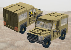 LR90 Utility (Paradox Kid) Tags: 6x6 army lego offroad 4x4 military 4wd utility vehicle british landrover moc ldd 6wd
